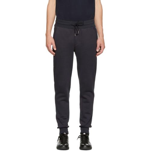 MONCLER Navy Fleece Lounge Pants