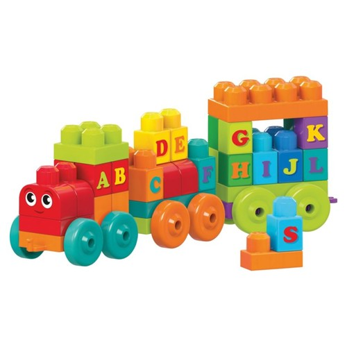 Mega Bloks ABC Learning Train Play Set - Theme/Subject: Learning - Skill Learning: Letter, Alphabet, Word Building, Motor Skills, Problem Solving