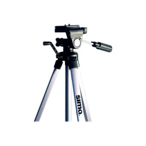 Sima STV-54K-SVR 3 Section Aluminum Video Tripod with Quik Conect Bundle