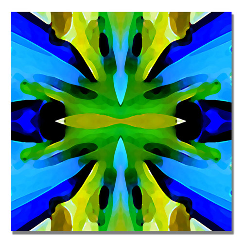 Trademark Global Amy Vangsgard 'Paradise Blue and Green' Canvas Art [Overall Dimensions : 18x18]