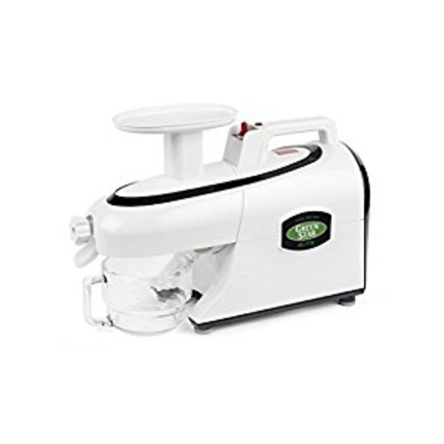 Tribest GSE-5000 Greenstar Elite Cold Press Complete Masticating Juicer, Juice Extractor with Jumbo Twin Gears, White [White]