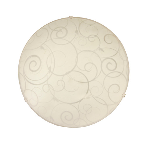 Simple Designs Round Flush Mount Ceiling Light with Scroll Swirl Design
