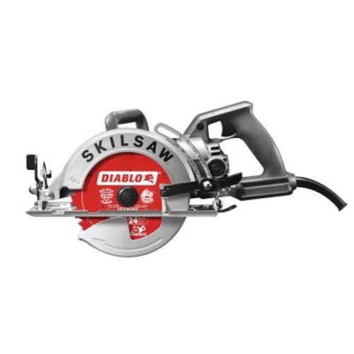 SKILSAW 15 Amp Corded Electric 7-1/4 in. Aluminum Worm Drive Circular Saw with 24-Tooth Carbide Tipped Diablo Blade