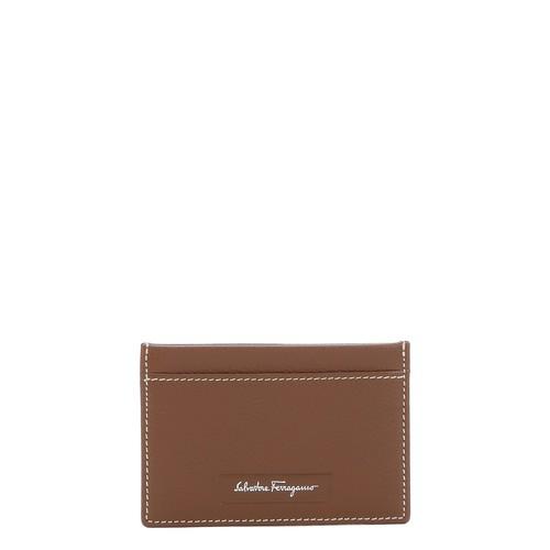 brown calfskin \u0027Manhattan\u0027 card case