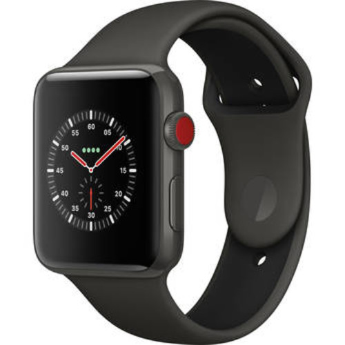 Watch Edition Series 3 42mm Smartwatch (GPS + Cellular, Gray Ceramic Case, Gray/Black Sport Band)