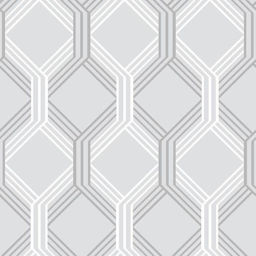 A-Street Linkage Grey Trellis Wallpaper