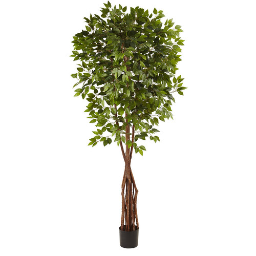 Nearly Natural 90-in Green Ficus