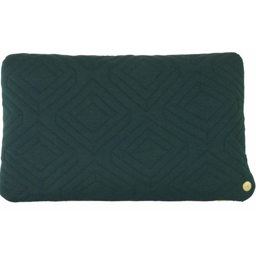 Quilt Cushion in Dark Green design by Ferm Living