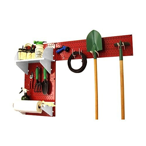 Wall Control 30-GRD-200 RW Pegboard Garden Tool Board Organizer Kit, Red/White [Red/White]