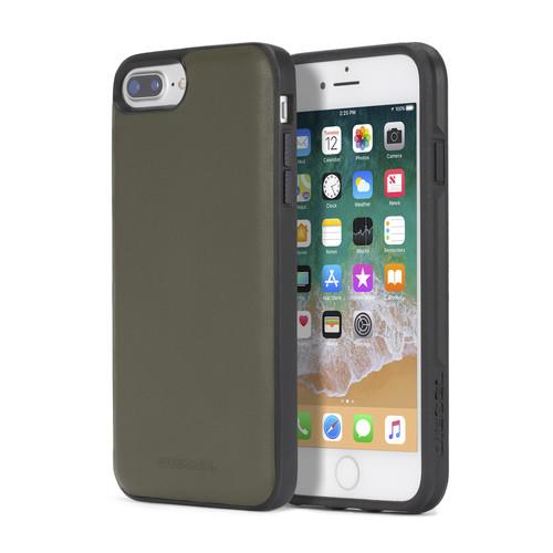 OLIVE GREEN LEATHER IPHONE 8 PLUS/7 PLUS/6s PLUS/6 PLUS CASE
