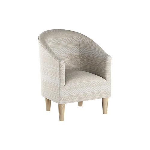 Ashlee Barrel Accent Chair, Natural Batik
