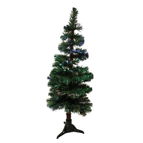5' Pre-Lit Fiber Optic Artificial Spiral Pine Christmas Tree - Multi Lights