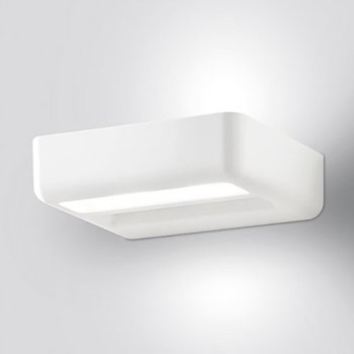 One Wall Sconce [Light Option : Halogen; Finish : Matte White]