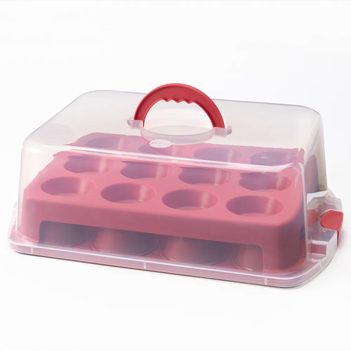 Food Network 2-Layer Cupcake & Muffin Carrier