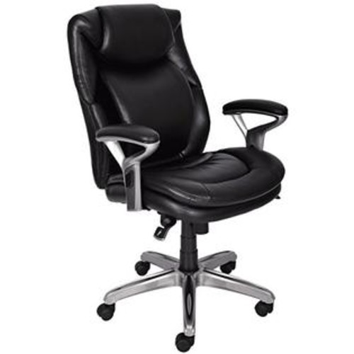 Serta Air Health and Wellness Mid-Back Office Chair, Black