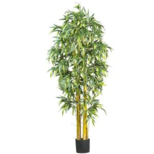 Nearly Natural 6 ft. Silk Bamboo Tree