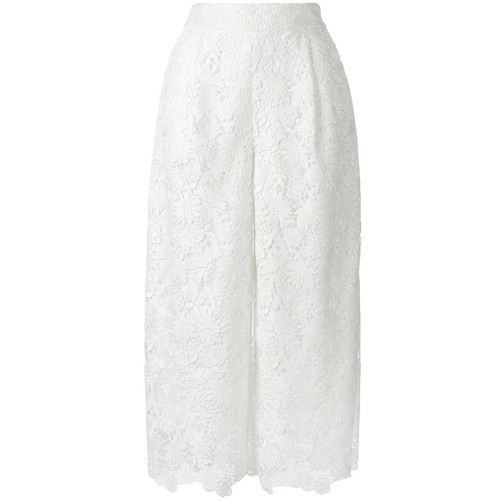 DIANE VON FURSTENBERG Macramé Cropped Trousers