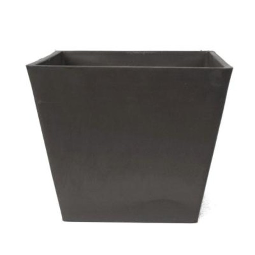 Arcadia Garden Products Simplicity Square 12 in. x 10 in. Dark Charcoal PSW Pot