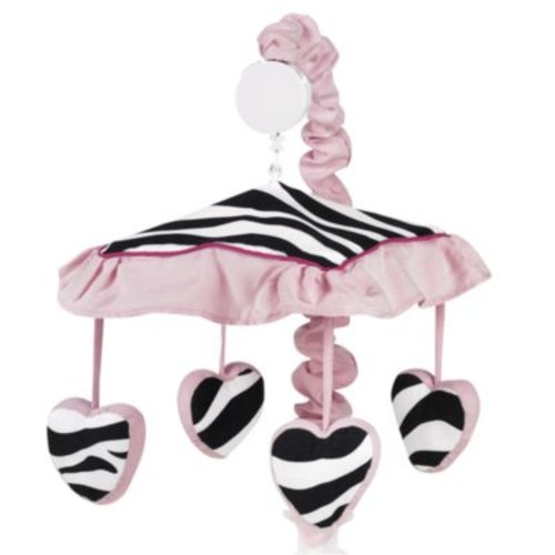 Sweet Jojo Designs Funky Zebra Musical Mobile in Pink