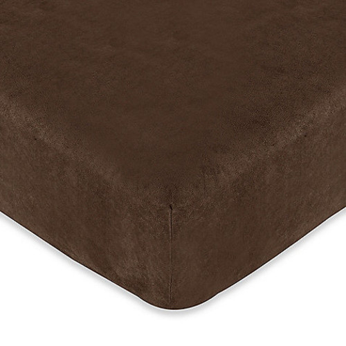 Sweet Jojo Designs Teddy Bear Fitted Crib Sheet in Chocolate