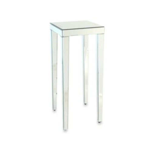 Beveled Mirror Pedestal Stand/Side Table