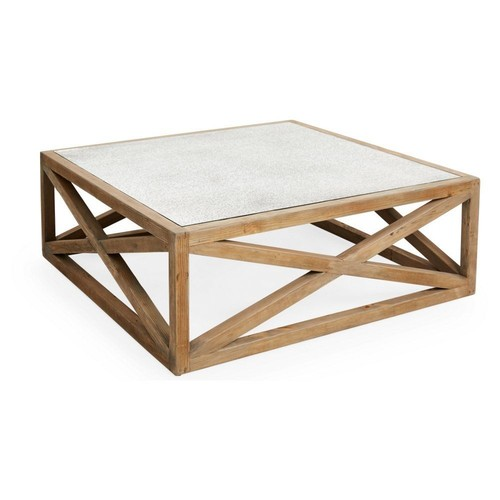 Manning Mirrored Coffee Table, Natural