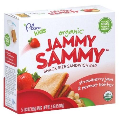 Plum Organics Jammy Sammy Snack Size Strawberry Jam & Peanut Butter Sandwich Bar - 5.15 oz