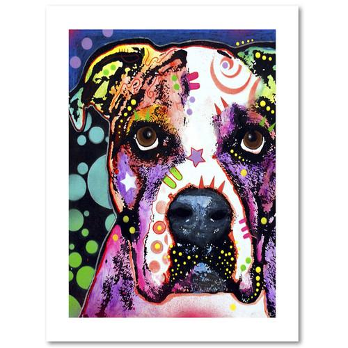Dean Russo 'American Bulldog II' Paper Art