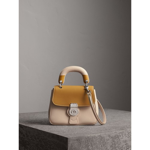 The Small DK88 Top Handle Bag with Geometric Print