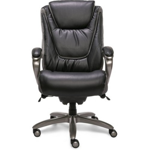 Big & Tall Smart Layers Premium Ultra Executive Chair Bliss Black Bonded Leather - Serta