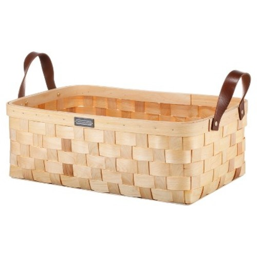 Cypress Wood Basket Small - Natural - Smith & Hawken