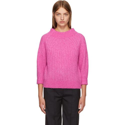 3.1 PHILLIP LIM Pink Rib Knit Alpaca Sweater