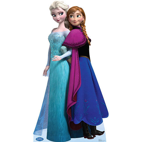 Disney's Frozen Elsa and Anna Stand-Up Poster