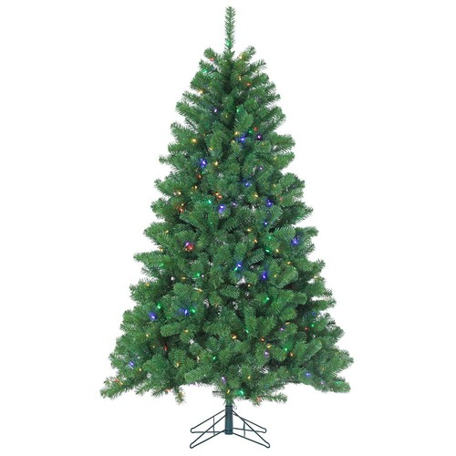 Sterling 7 ft. Pre-Lit LED Montana Pine Artificial Christmas Tree with Multicolored Lights
