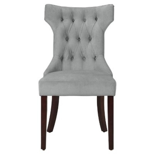 Tufted Hourglass Dining Chair - Gray - (Set of 2) Dorel Living