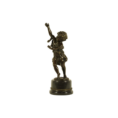 The Barn at 17 Antiques Dancing Child Bronze