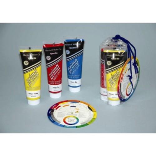 Weber Art Prima Acrylic - Three 118 ml Tubes - Primary Colors