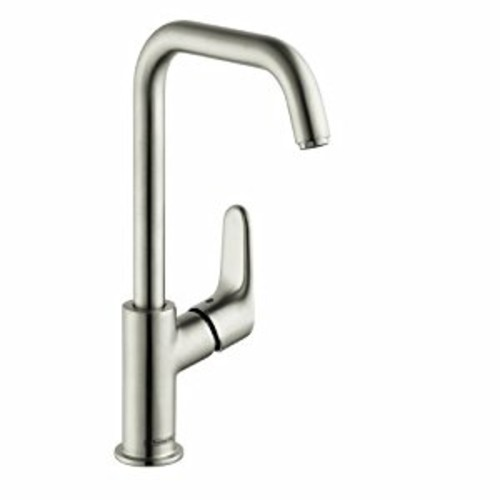 Hansgrohe 31609821 Focus E Tall Single Hole Faucet, Brushed Nickel [Brushed Nickel]
