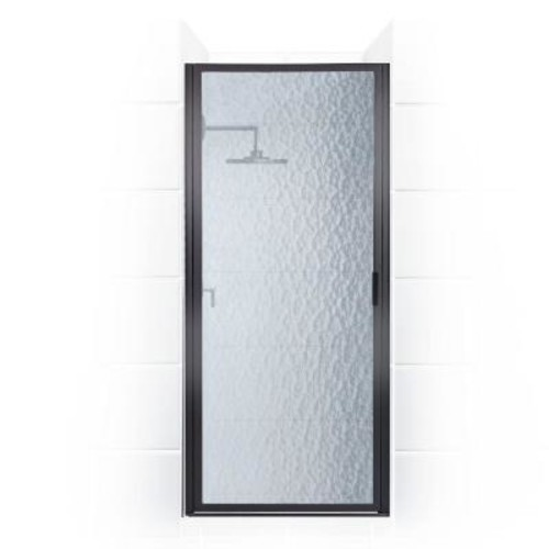 Coastal Shower Doors Paragon Series 29 in. x 82 in. Framed Continuous Hinged Shower Door in Oil Rubbed Bronze with Aquatex Glass