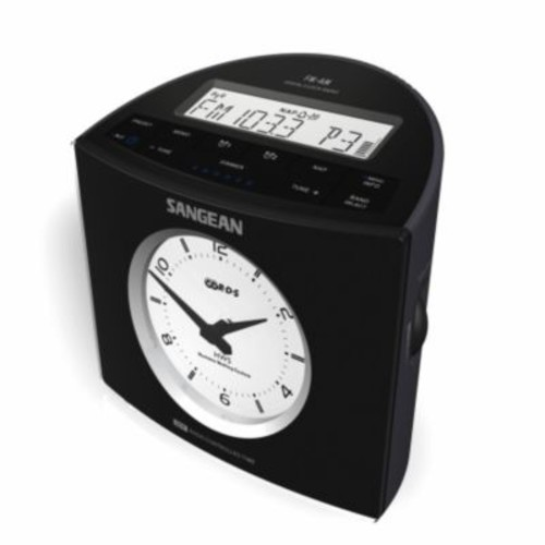 Sangean America AM-FM-RDS Digital Tuning Atomic Clock Radio - Black (SGN044)