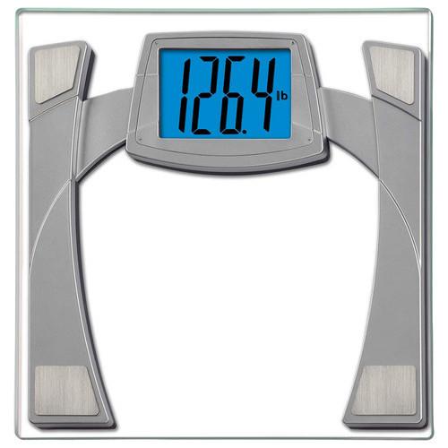 EatSmart - Precision MaxView Digital Bathroom Scale - Clear/Gray