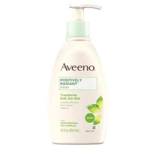 Aveeno Positively Radiant Body Lotion - 12oz