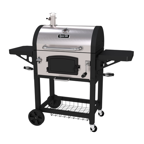 Dyna-Glo Stainless Heavy-duty Charcoal Grill, Black