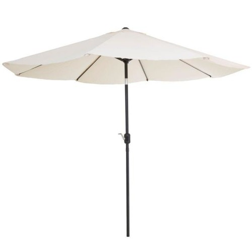 Pure Garden 10 ft. Aluminum Patio Umbrella with Auto Tilt in Tan
