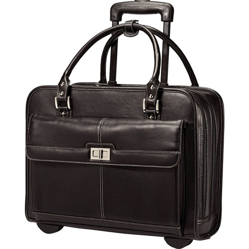 Samsonite - Business Women's Mobile Office Rolling Laptop Case - Black