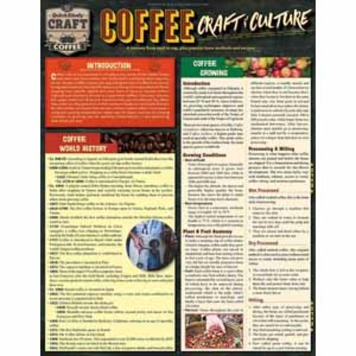 Coffee - Craft & Culture: Laminated Reference Guide to Beans, Brewing, Drinks & More