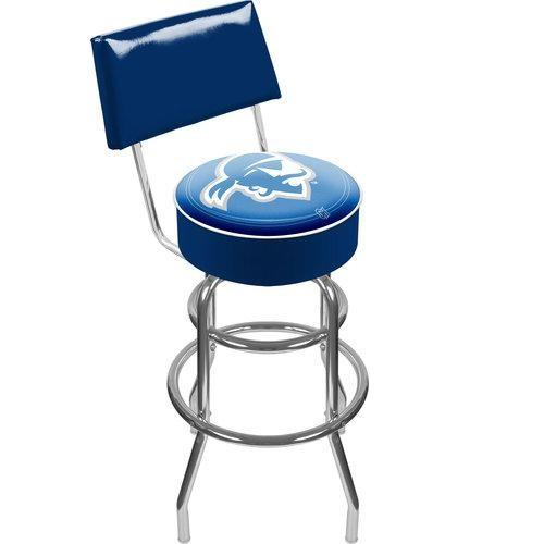 Trademark LRG1100-SHU Padded Bar Stool With Back Featuring NCAA Team Logo, Seton Hall University