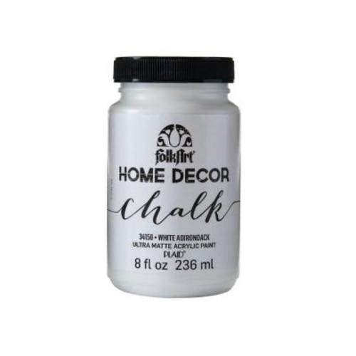 FolkArt Home Decor 8 oz. White Adirondack Ultra-Matte Chalk Finish Paint
