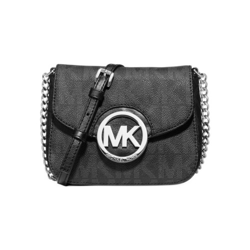 Michael Kors Fulton Small Black Logo Crossbody Handbag