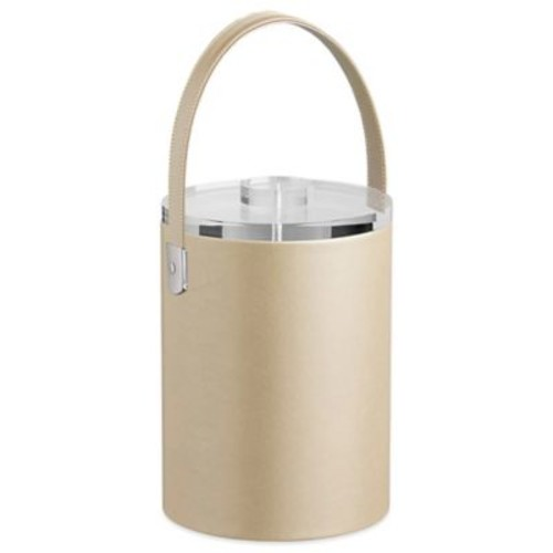 Kraftware Zappa Beige 2-Quart Tall Ice Bucket with Lucite Lid